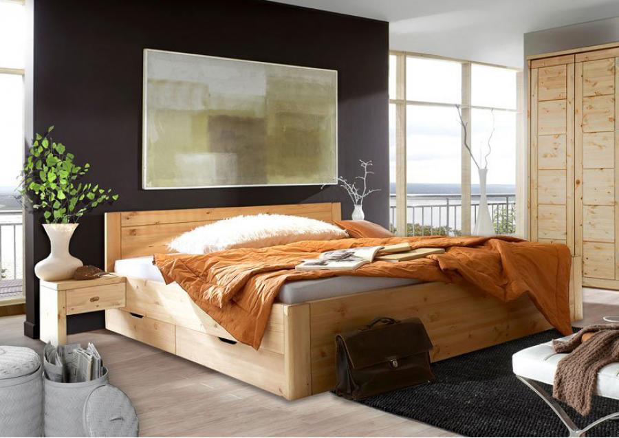 Massief houten bed odin 160 x 200 cm beuken netbed - Massief houten platform bed ...