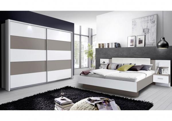 Complete slaapkamer Ibiza, eiken, 180 x 200 cm, met 2 binnenvering ...