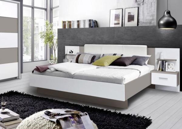 Bedombouw 180 Bij 200.Modern Bed Ibiza 180 White 180 X 200 Cm With 2 Nightstands Netbed