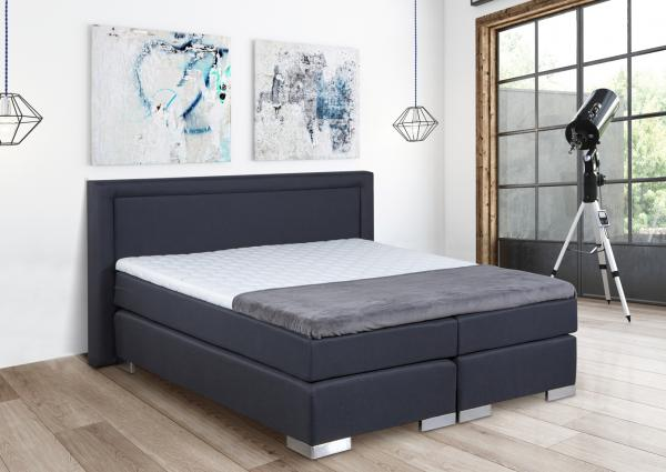 Bed 120x200 Compleet.Boxspring Bed Zara 120 X 200 Cm Antraciet Netbed