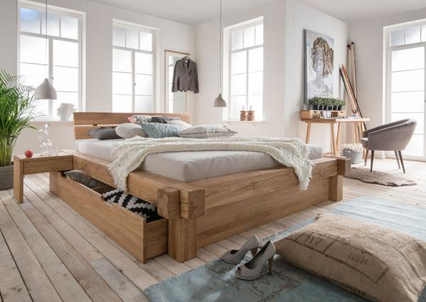 Bed 140x200 Hout.Solid Wood Bed Quino 140 X 200 Cm Oak Netbed