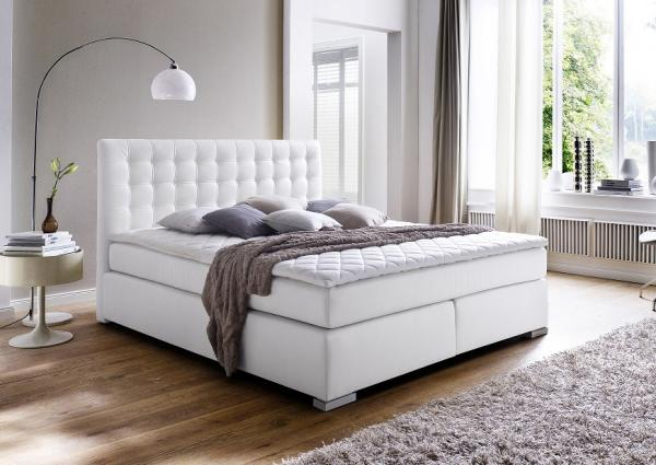 Boxspring bed bella 140 x 200 cm wit netbed for Boxspring kasten