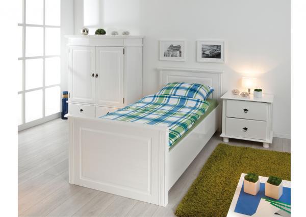 eenpersoons bed jette 90 x 200 cm wit netbed