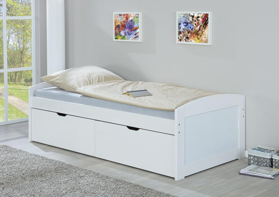 eenpersoons bed tina 90 x 200 cm wit netbed