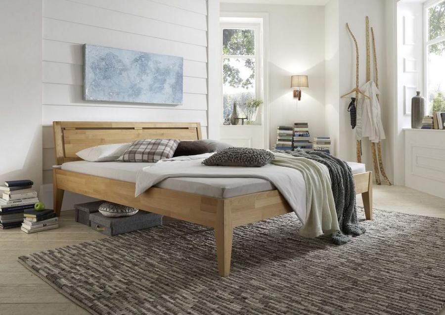 Massief houten comfort bed freja 140 x 200 cm beuken netbed - Massief houten platform bed ...