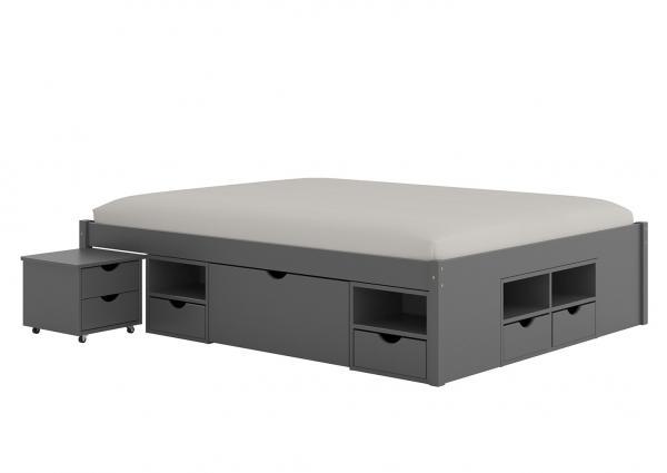 Massief Houten Bed 140x200.Massief Houten Bed Bali 160 X 200 Cm Natuur Met Wit Incl