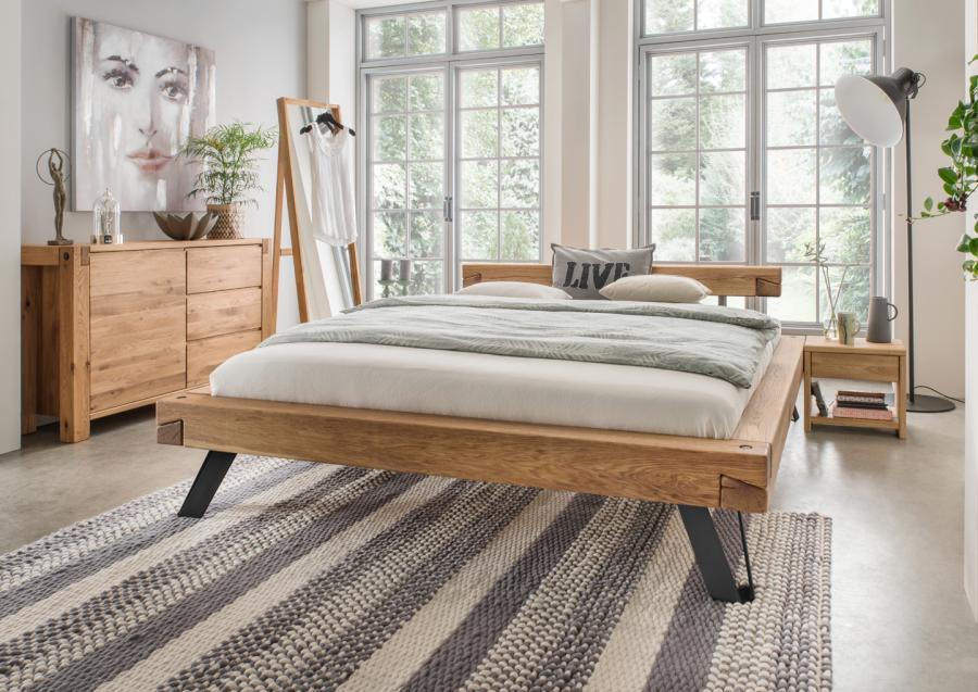 Massief houten bed elvi comfort 140 x 200 cm wit netbed - Massief houten platform bed ...