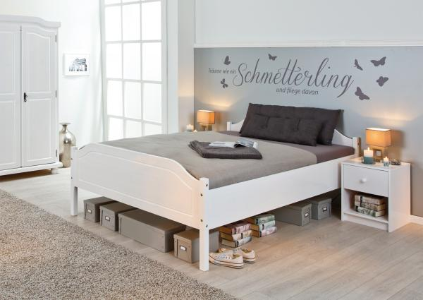 Wit Houten Bed 140x200.Massief Houten Bed Lize 140 X 200 Cm Wit Netbed