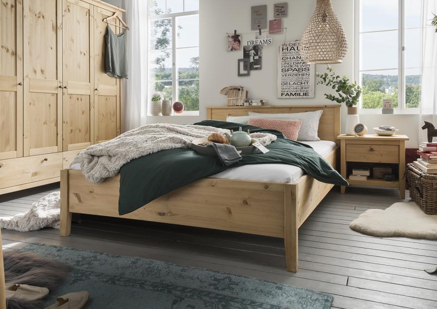 Massief houten bed bjorn 140 x 200 cm beuken netbed - Massief houten platform bed ...