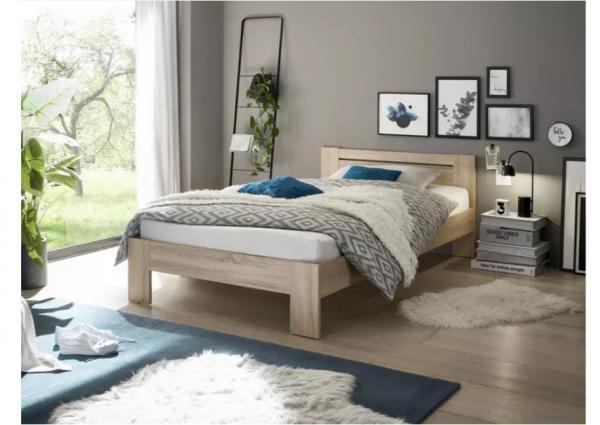 Bed 120x200 Compleet.Twijfelaar Bed Julia 120 X 200 Cm Eiken Met Lattenbodem En Matras