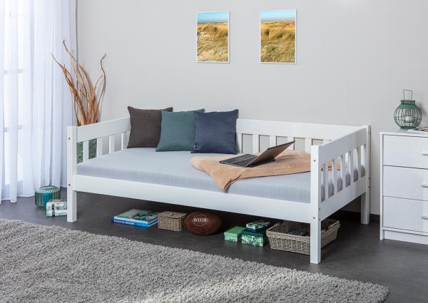 eenpersoons bed faya 90 x 200 cm wit netbed